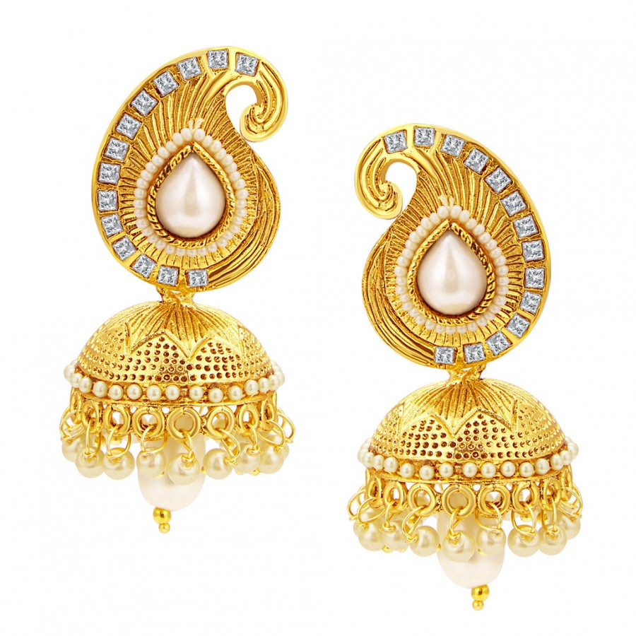 Buy Sukkhi Sleek Jhumki Gold Plated Earring For Women Online