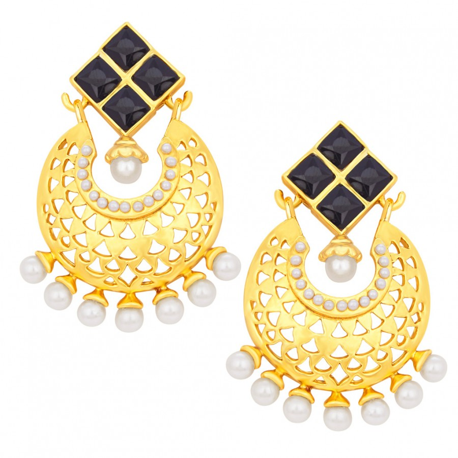 Buy Sukkhi Magnificent Chandbali Gold Plated Earring For Women Online