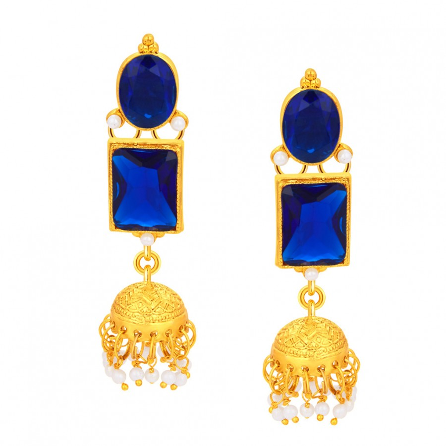 Buy Sukkhi Luxurious Jhumki Gold Plated Earring For Women Online