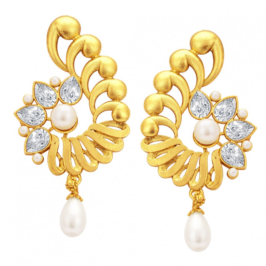 Sukkhi Traditionally Gold Plated American Diamond Earring For Women Online