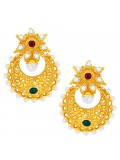 Sukkhi Incredible Chandbali Gold Plated AD Earring For Women