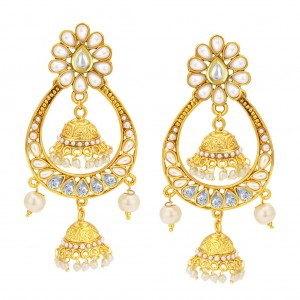 Buy Sukkhi Cluster Jhumki Gold Plated Earring For Women Online