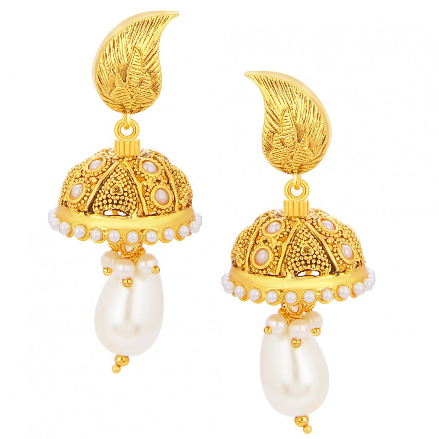 Buy Sukkhi Bewitching Jhumki Gold Plated Earring For Women Online