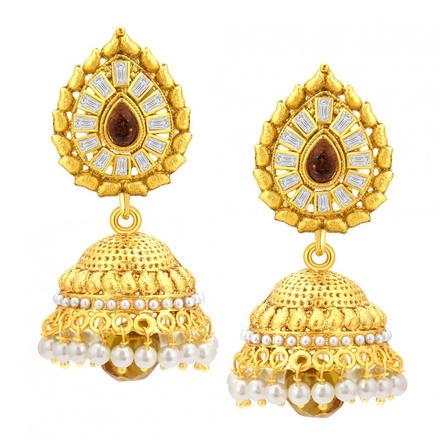 54a628b82 Buy Sukkhi Attractive Jhumki Gold Plated American Diamond Earring For Women  Online