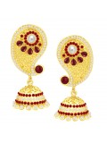 Sukkhi Enchanting Paisley Jhumki Gold Plated Earring For Women