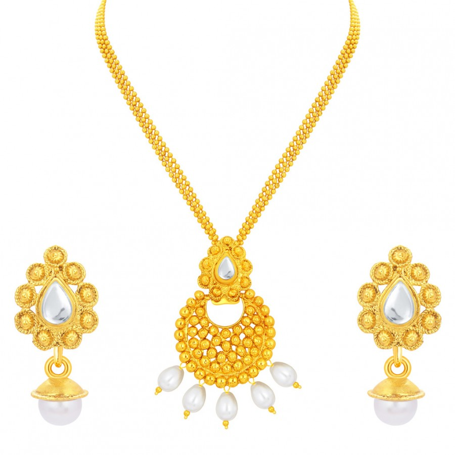 Buy Sukkhi Classy Gold Plated Pendant Set For Women Online