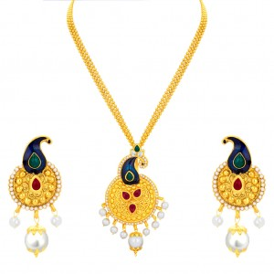 Buy Sukkhi Incredible Peacock Gold Plated Pendant Set For Women Online