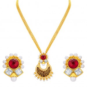 Buy Sukkhi Royal Gold Plated Pendant Set For Women Online