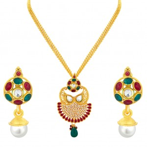 Buy Sukkhi Exquisite Gold Plated Pendant Set For Women Online