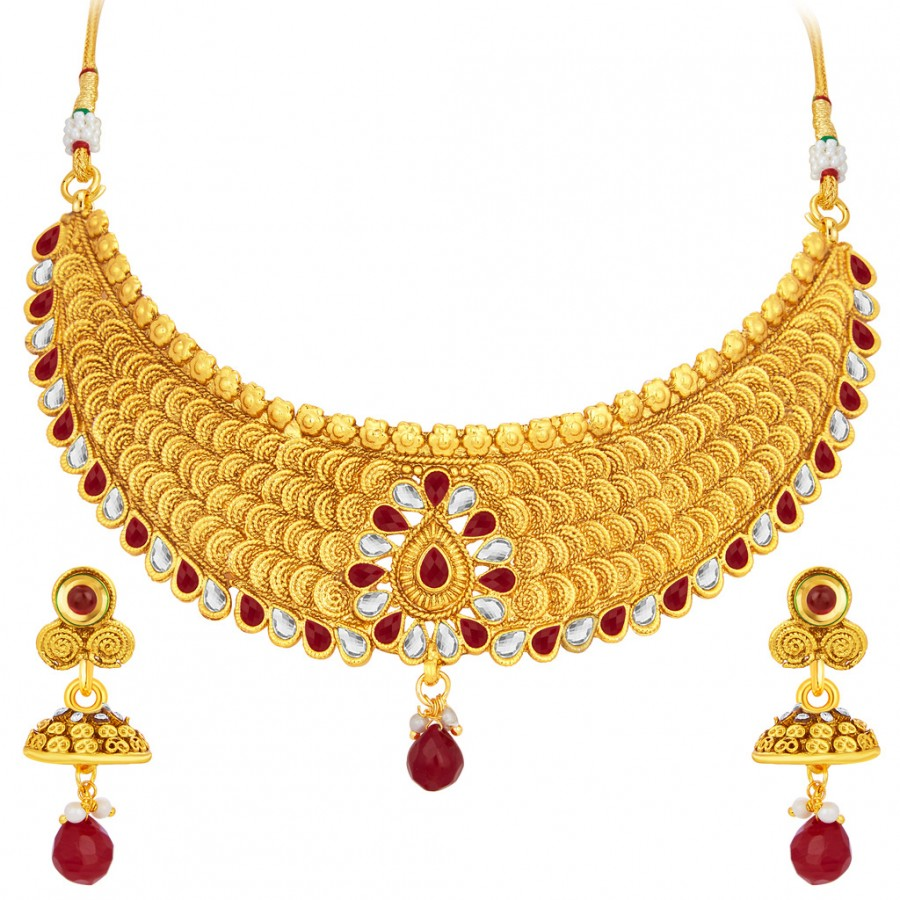a1bd6ce32 Online Shopping Sukkhi Designer Jalebi Gold Plated Necklace Set For ...