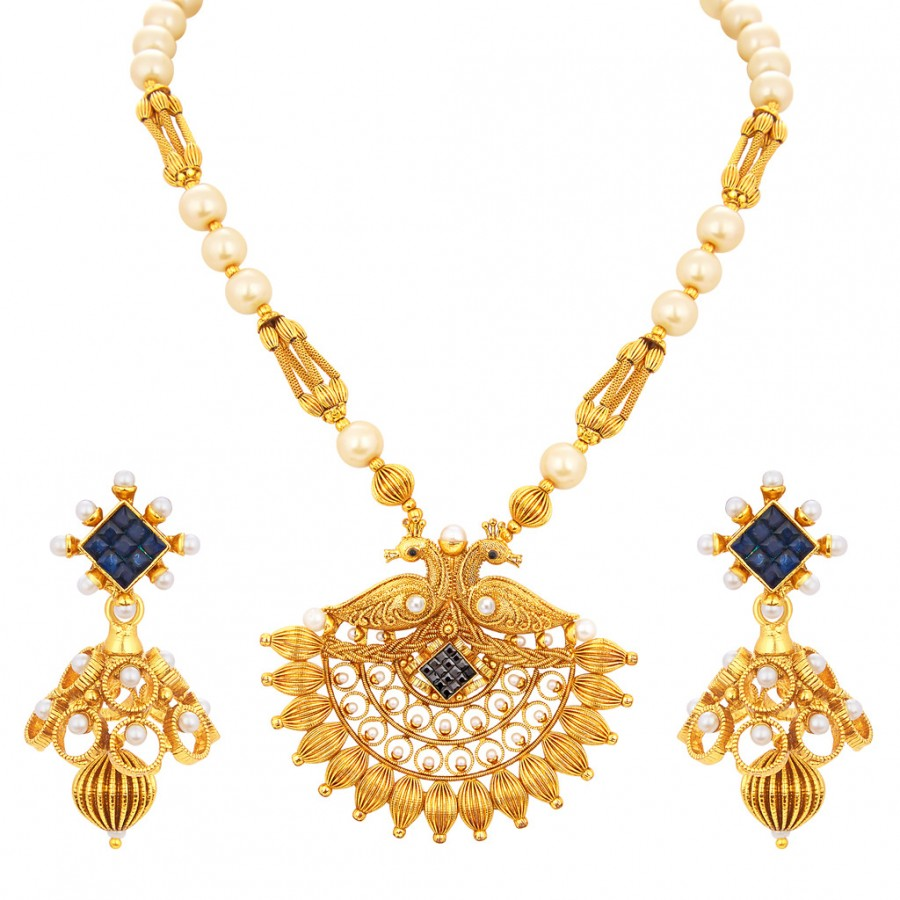 Buy Sukkhi Ritzy Gold Plated Necklace Set For Women Online