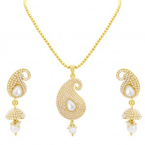 Buy Sukkhi Finely Kairi Design Gold Plated Pendant Set For Women Online