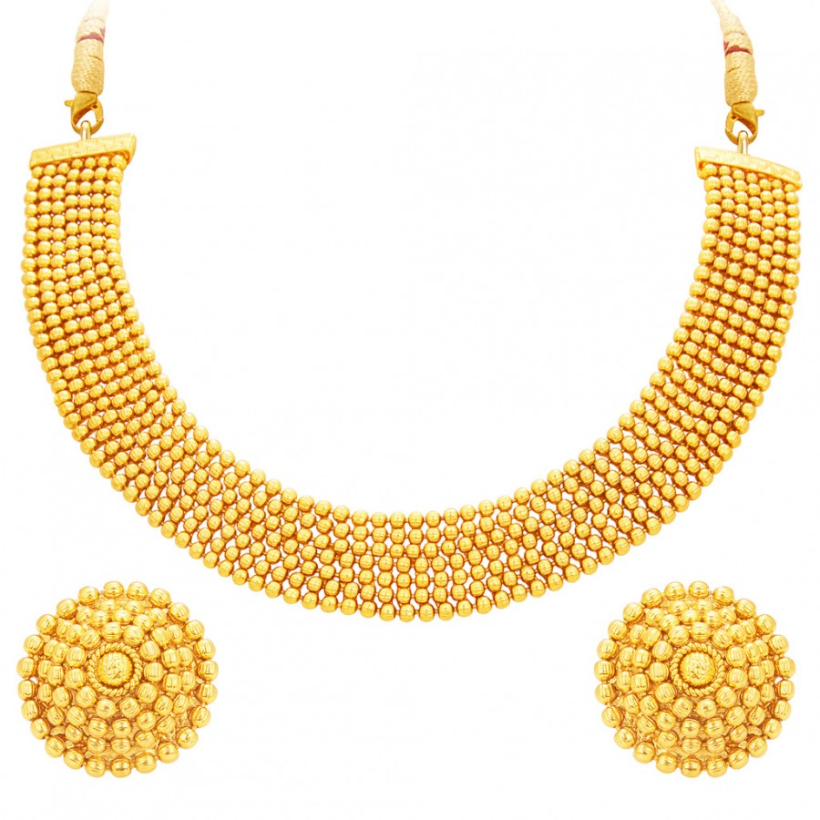 Buy Sukkhi Magnificent Gold Plated Necklace Set For Women Online