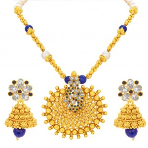 Buy Sukkhi Gleaming Gold Plated Necklace Set For Women Online