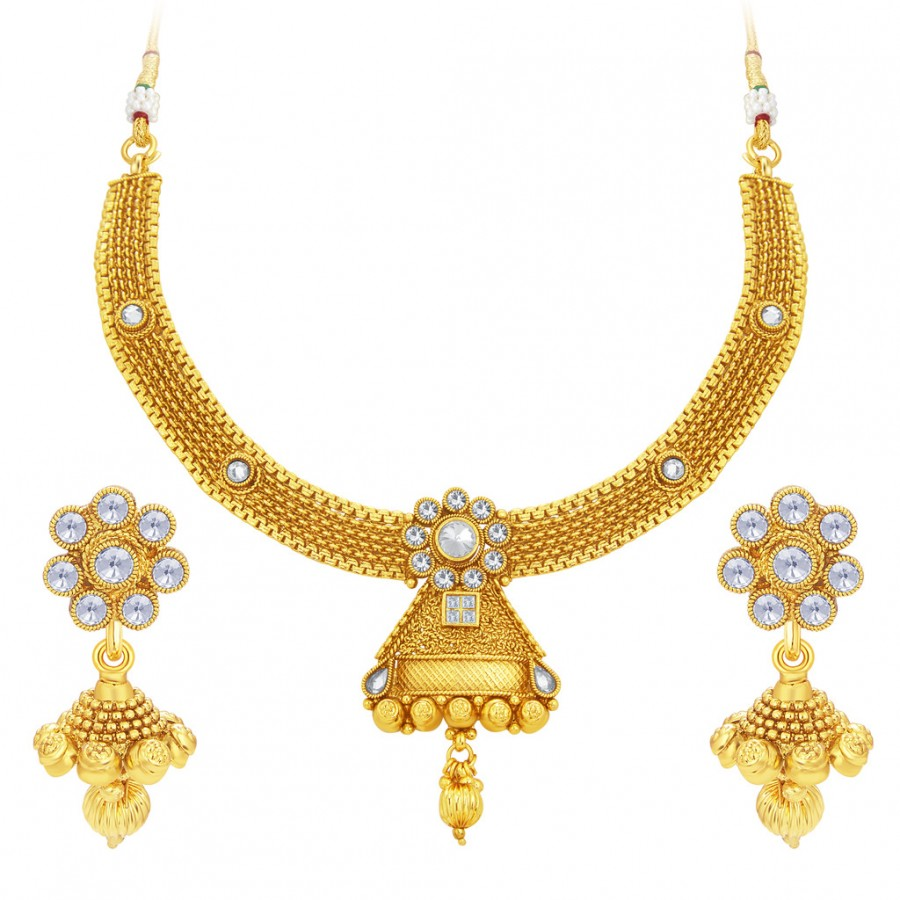 Buy Sukkhi Traditionally Gold Plated Necklace Set For Women Online