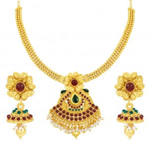 Buy Sukkhi Angelic Gold Plated Necklace Set For Women Online
