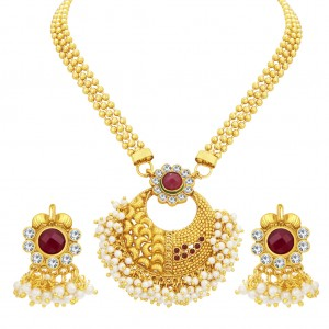 Buy Sukkhi Designer Gold Plated Necklace Set For Women Online
