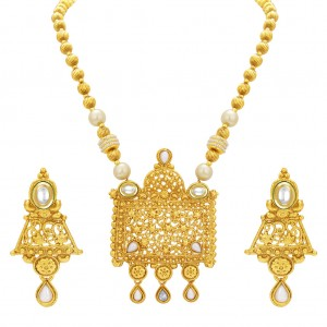 Buy Sukkhi Incredible Gold Plated Kundan Necklace Set For Women Online