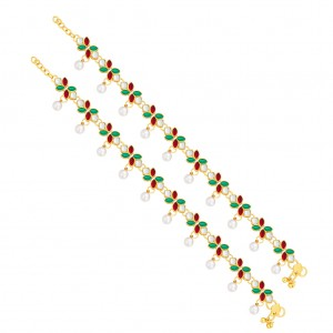 Buy Sukkhi Modish Gold Plated Anklet For Women Online