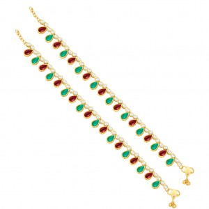 Buy Sukkhi Astonish Gold Plated Anklet For Women Online
