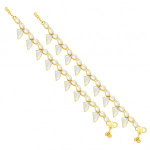 Buy Sukkhi Pleasing Gold Plated Anklet For Women Online