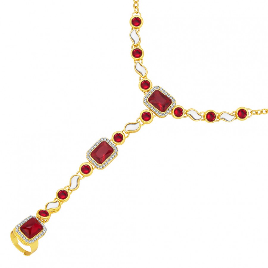 Buy Sukkhi Divine Gold Plated AD Hathphool For Women Online