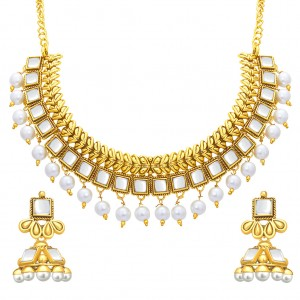 Buy Sukkhi Classic Gold Plated Kundan Necklace Set For Women Online