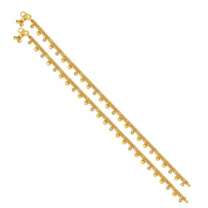 Buy Sukkhi Magnificent Gold Plated Anklet For Women Online