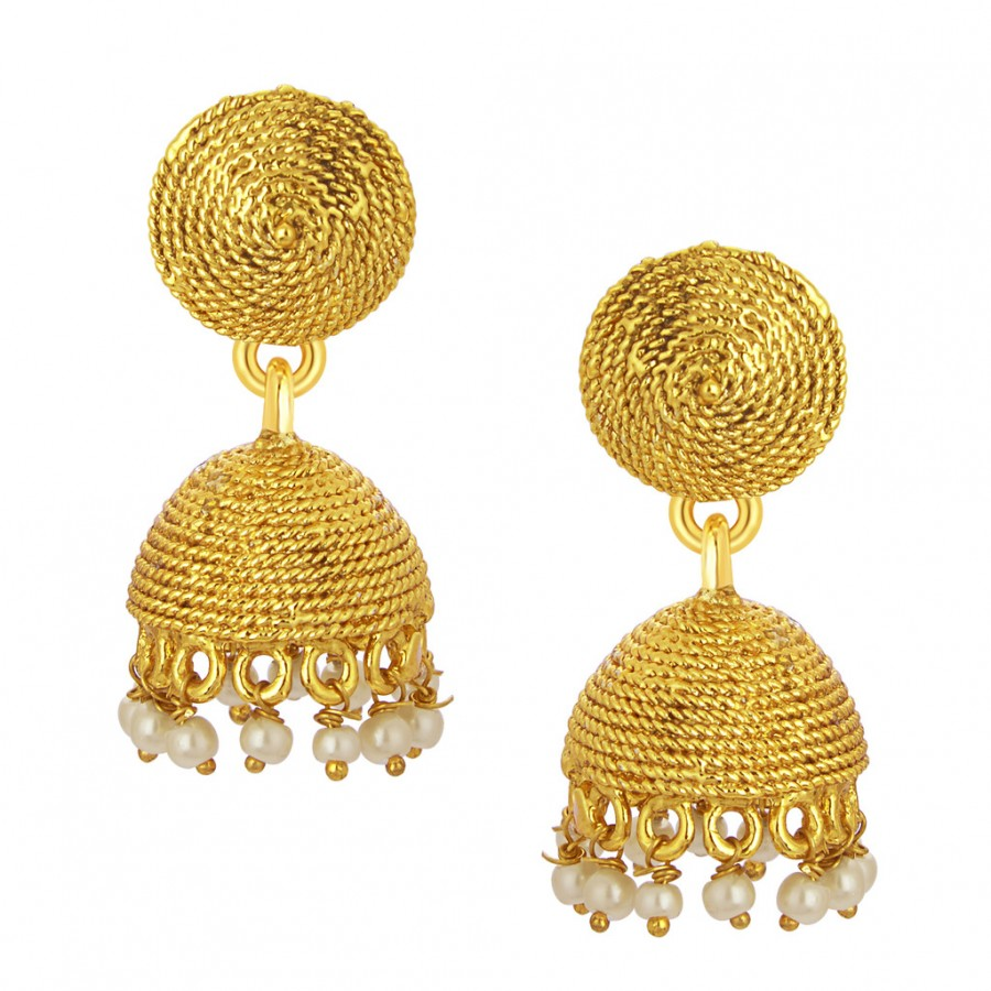 Buy Sukkhi Intricately Crafted Jhumki Gold Plated Earring For Women Online
