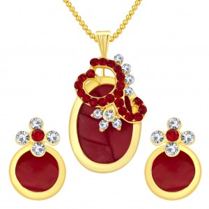 Buy Sukkhi Fancy Gold Plated AD Pendant Set For Women Online