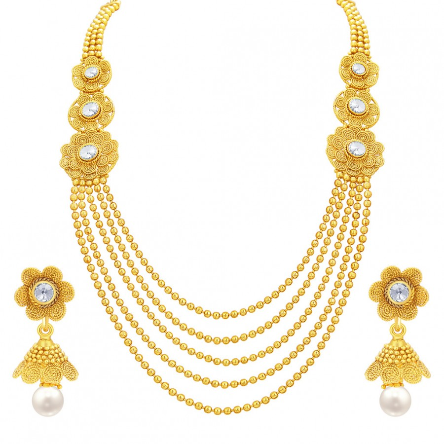 design mango jewellery indian online goldplated plated jewelry traditional gold wear necklace party south maanga