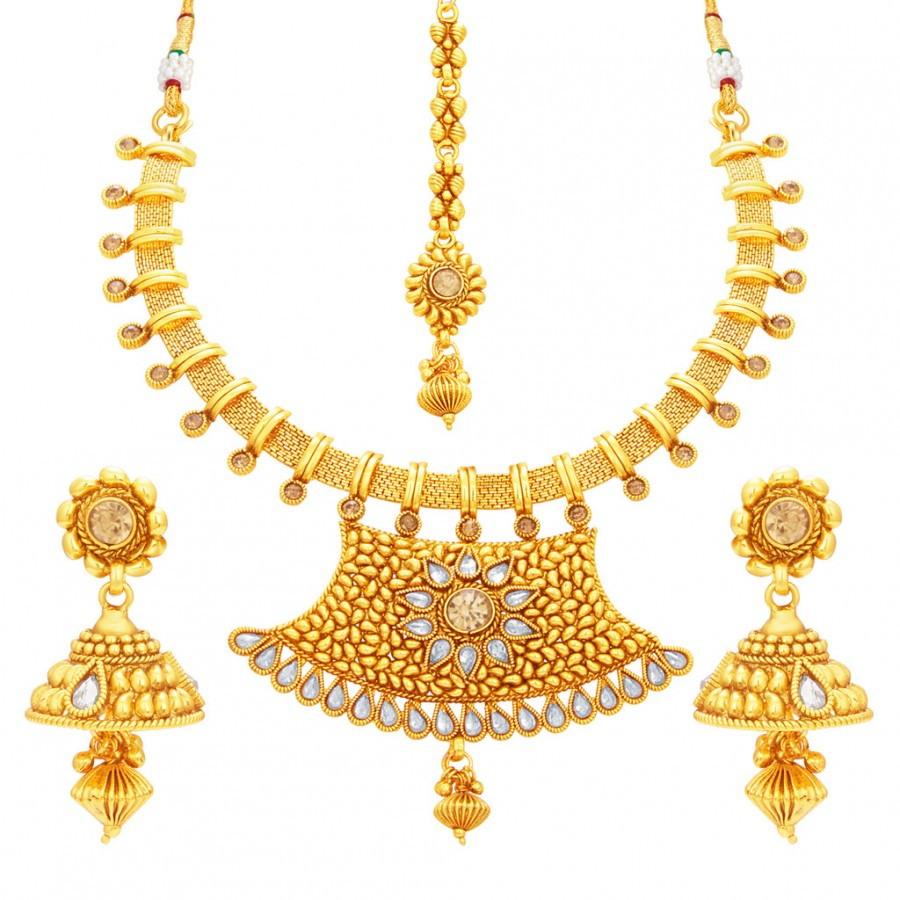Buy Sukkhi Modish Gold Plated Necklace Set For Women Online