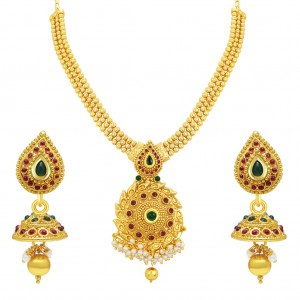Buy Sukkhi Wavy Gold Plated Necklace Set For Women Online