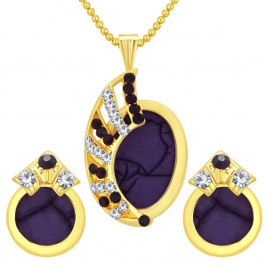 Buy Sukkhi Intricately Gold Plated AD Pendant Set For Women Online