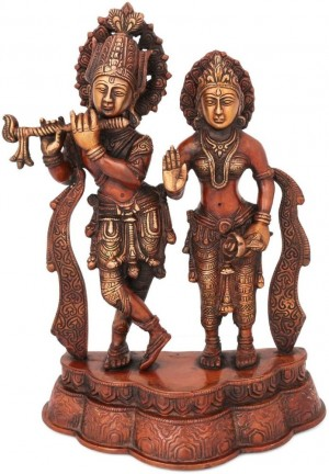 Buy Collectible India Large Brass Radha Krishna Statue  Antique Finish Showpiece 30 cm Online