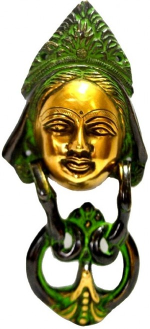 "Buy Collectible India 8"" Door knob Tara Buddha Wall Hanging Sculpture Antique Finish Showpiece  20.32 cm Online"