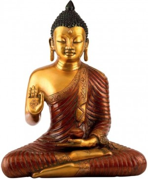 Buy  Collectible India Big Blessing Brass Buddha Sculpture Showpiece 37.5 cm Online