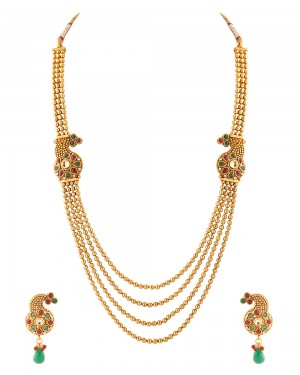 Buy  ELEGANT GOLD NECKLACE SET Online