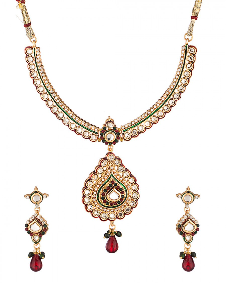 Buy FANCY TRADITIONAL NECKLACE SET Online