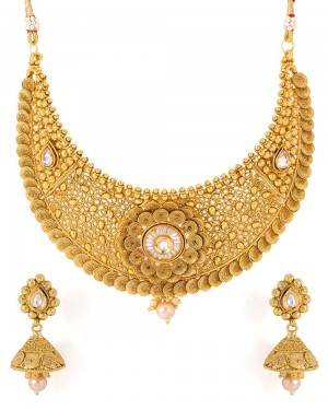 Buy  TRADITIONAL FILIGREE STYLED NECKLACE SET Online