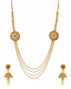 Buy  MULTI LAYERED TRADITIONAL NECKLACE SET Online