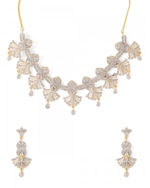 Buy  BEAUTIFUL NECKLACE SET ADORNED WITH CZ Online