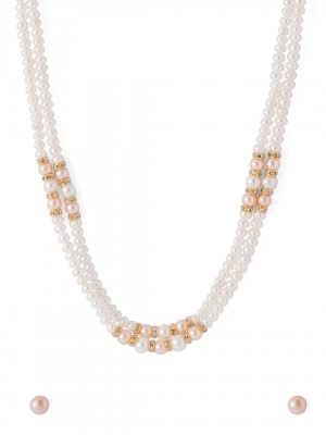 Buy  NATURAL FRESH WATER PEARL BEADED NECKLACE SET Online