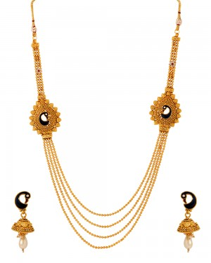 Buy PEACOCK THEMED RANIHAAR NECKLACE SET Online