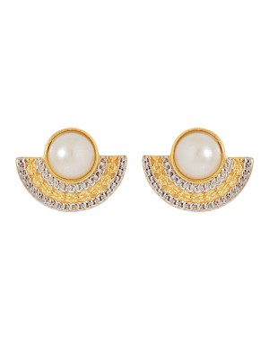 Buy  PHENOMENAL DUAL TONE DANGLERS ADORNED WITH PEARL BEADS Online