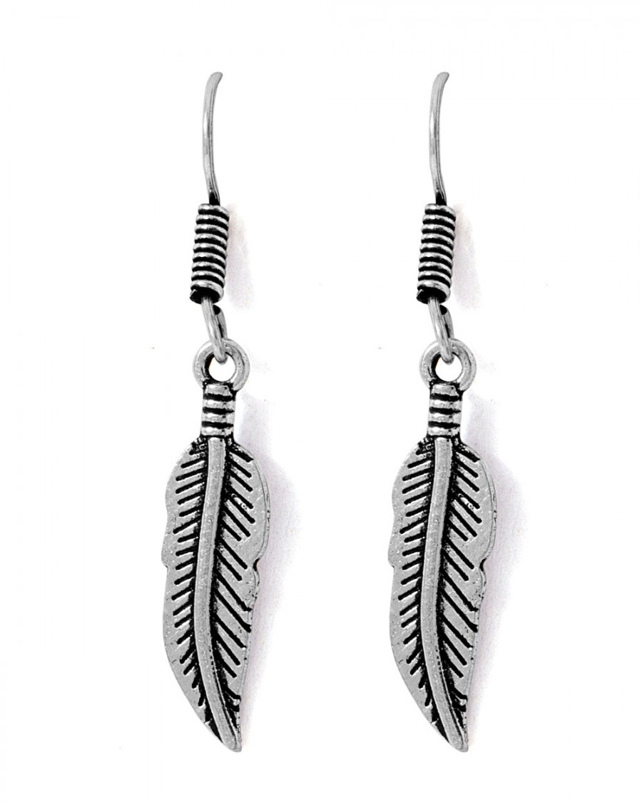 Buy  STUNNING OXIDIZED SILVER TONE LEAFY DANGLERS  Online