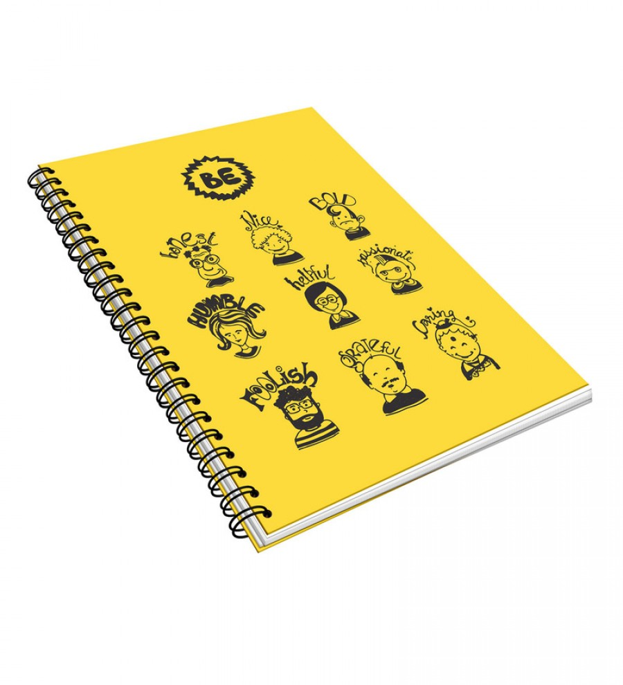 Buy Thinkpot Yellow & Black Paper A5 Be All Wirobook Online