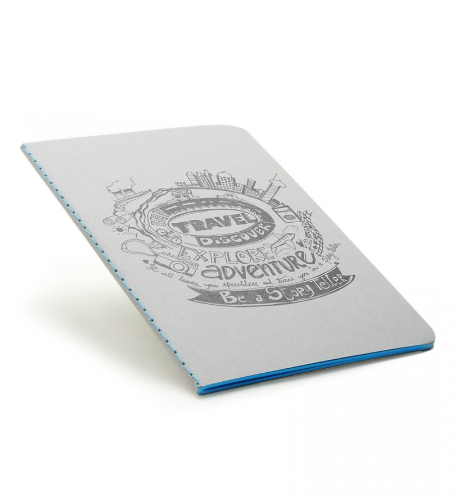 Buy Thinkpot Multicolor Paper Travel, Discover, Explore Be A Story Teller Color Kraft Book Online