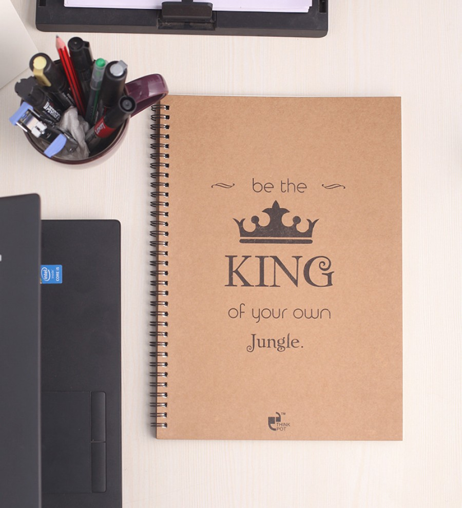 Buy Thinkpot Multicolor Paper Be The King of Your Own Jungle Sketchbook Online