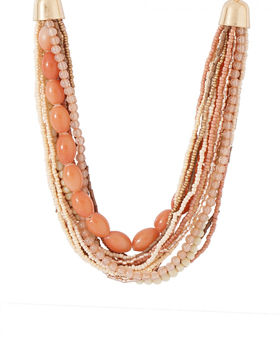 Buy LAYERED BEADED NECKLACE IN GOLD TONE FINISH Online